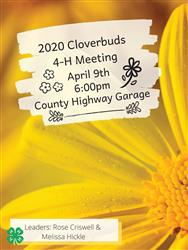 2020 Cloversbuds 4-H Club Meeting