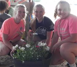 Flower Pots for the 4-H Fair