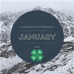 January club resources, snowy background