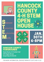 4-H STEM Open House Flyer