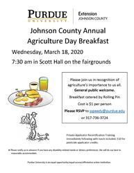 Ag Day Breakfast Flyer