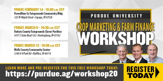 Purdue Crop Marketing & Farm Finance Workshop