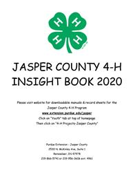 2020 Jasper County 4-H Insight Book