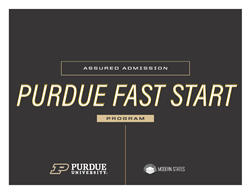 Purdue Fast Start Program