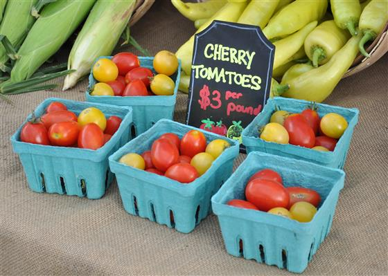 Cherry Tomatoes at Farmer's Market