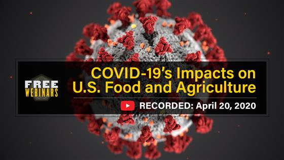 COVID-19's Impact on U.S. Food and Agriculture webinar recording available