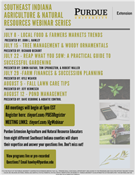 Southeast Indiana Agriculture & Natural Resources Webinar Series