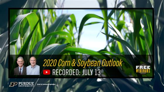 Purdue Corn & Soybean Outlook Webinar Recording Available