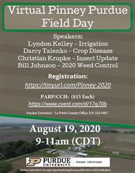2020 Virtual Pinney Purdue Field Day