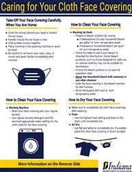 Guide to caring for face coverings