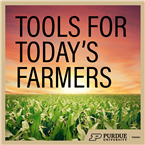 Image of podcast graphic that says tools for today's farmers.