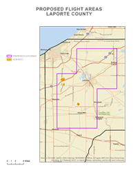 Proposed Flight Areas LaPorte County