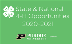 2021 State & National 4-H Opportunities