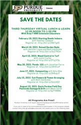 Save The Dates Third Thursday Virtual Lunch & Learn