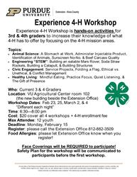 Experience 4-H Flier