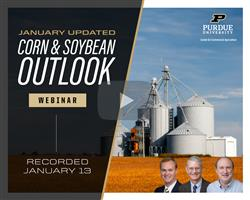 Purdue January update on the corn and soybean outlook webinar recording available