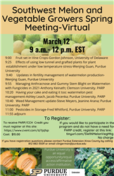 SW Melon ang Vegetable Growers Meeting flyer
