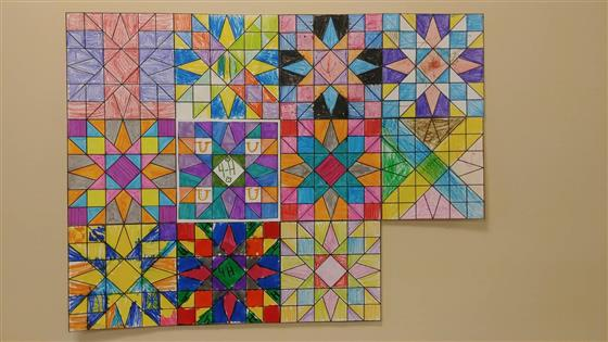 Here is our beautiful 4-H Quilt so far!
