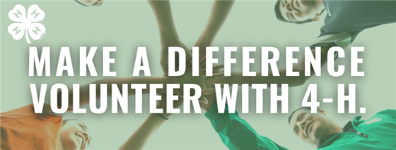 Make a Difference, Volunteer with 4-H.