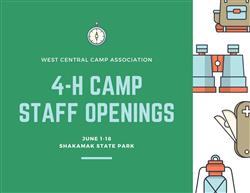 4-H Camp Staff Hiring