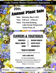 LCMGA 2021 Plant Sale Poster
