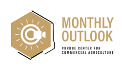 Purdue Center for Commercial Agriculture's monthly outlook webinar logo