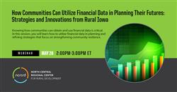 Promotional image for NCRCRD Webinar: How Communities Can Utilize Financial Data in Planning Their F