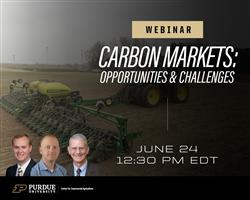 Purdue Center for Commercial Ag to host free webinar on carbon sequestration