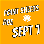 Point Sheets Due Sept 1