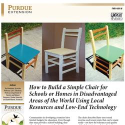 How to Build a Simple Chair for Schools or Homes in Disadvantaged Areas of the World Using Local Res