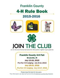 Franklin County 4-H Rule Book