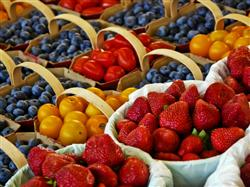 Delicious assortment of fruit in basket