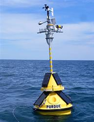 Purdue University and Illinois-Indiana Sea Grant deployed this environmental-sensing buoy in the Lak