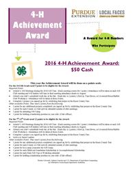 2016 Achievement Award