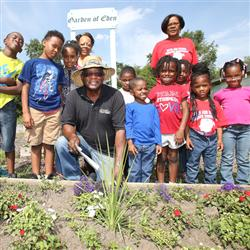 Ronald Jones is a Purdue Extension Master Gardener volunteer who believes that teaching youth about