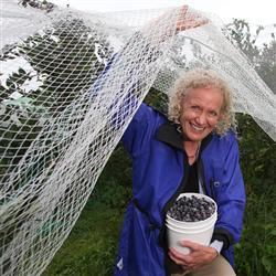 Kathy Cooley, a dietitian and operator of a family blueberry farm.