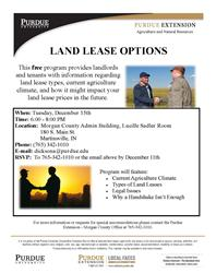 Land Lease options