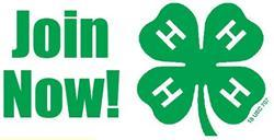 Join Now with 4-H Clover Image
