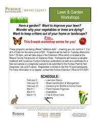 Lawn & Garden Workshop Flier