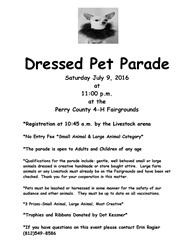 Pet Parade Flyer