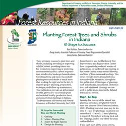 FNR-IDNR-36, Planting Forest Trees and Shrubs in Indiana