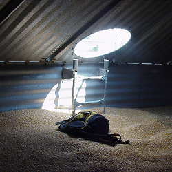 picture of the interior of a grain bin
