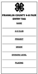 Franklin County 4-H Project Labels - Purdue Extension