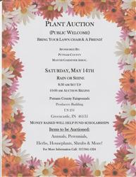Master Gardener Plant Auction flyer
