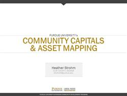 Community Capitals and Asset Mapping