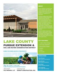 Lake County/Purdue Extension Ground Breaking