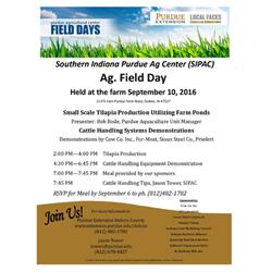 SIPAC Ag Field Day Flyer
