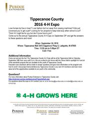 4-H Expo Flyer