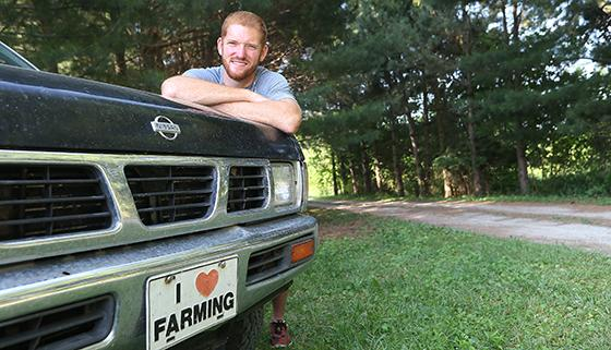 Zach Morris is an Army veteran who now farms in Cass County. He credits Purdue Extension's Indiana B